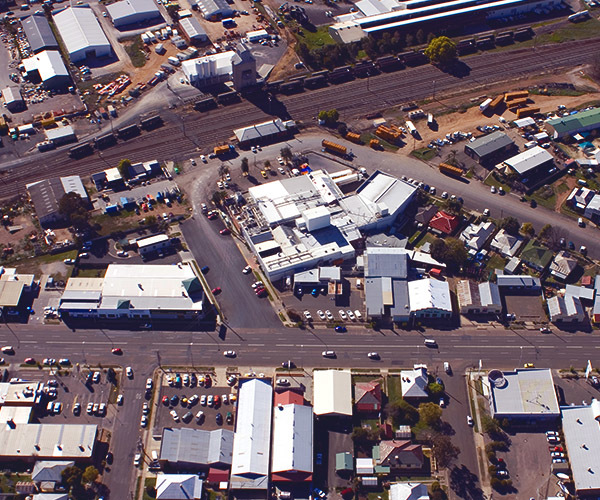 Aerial View of Out Street West Tamworth